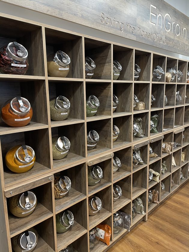 Pigeon Hole Unit featuring EcoSpice Jars